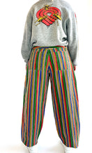 Load image into Gallery viewer, 90s Cross Colors Rainbow Stripe Baggy Jeans