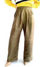 Load image into Gallery viewer, Olive Linen High Rise Trouser