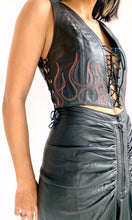 Load image into Gallery viewer, Agatha Blois Leather Flames Top