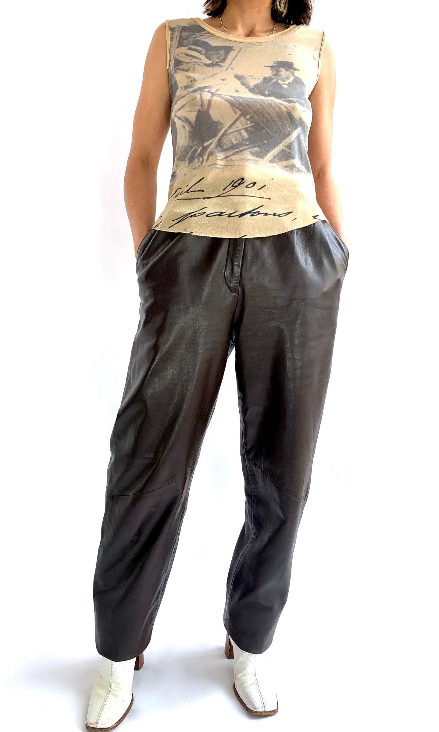 Chocolate Brown Butter Soft Leather Pants