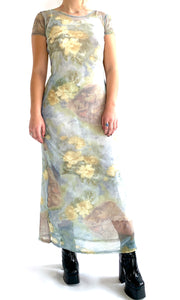 Mesh Heavenly Bodies Print Dress