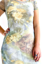 Load image into Gallery viewer, Mesh Heavenly Bodies Print Dress