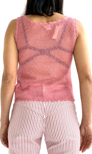 Deadstock Open Knit Mohair Tank Top