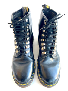 Dr. Martens Silver Lace Up Ankle Boots Made in England