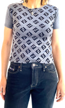 "Load image into Gallery viewer, Faux ""Fendi"" Logo Tee Shirt"