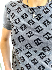 "Faux ""Fendi"" Logo Tee Shirt"
