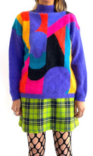 Load image into Gallery viewer, 80s Angora Color Block Sweater
