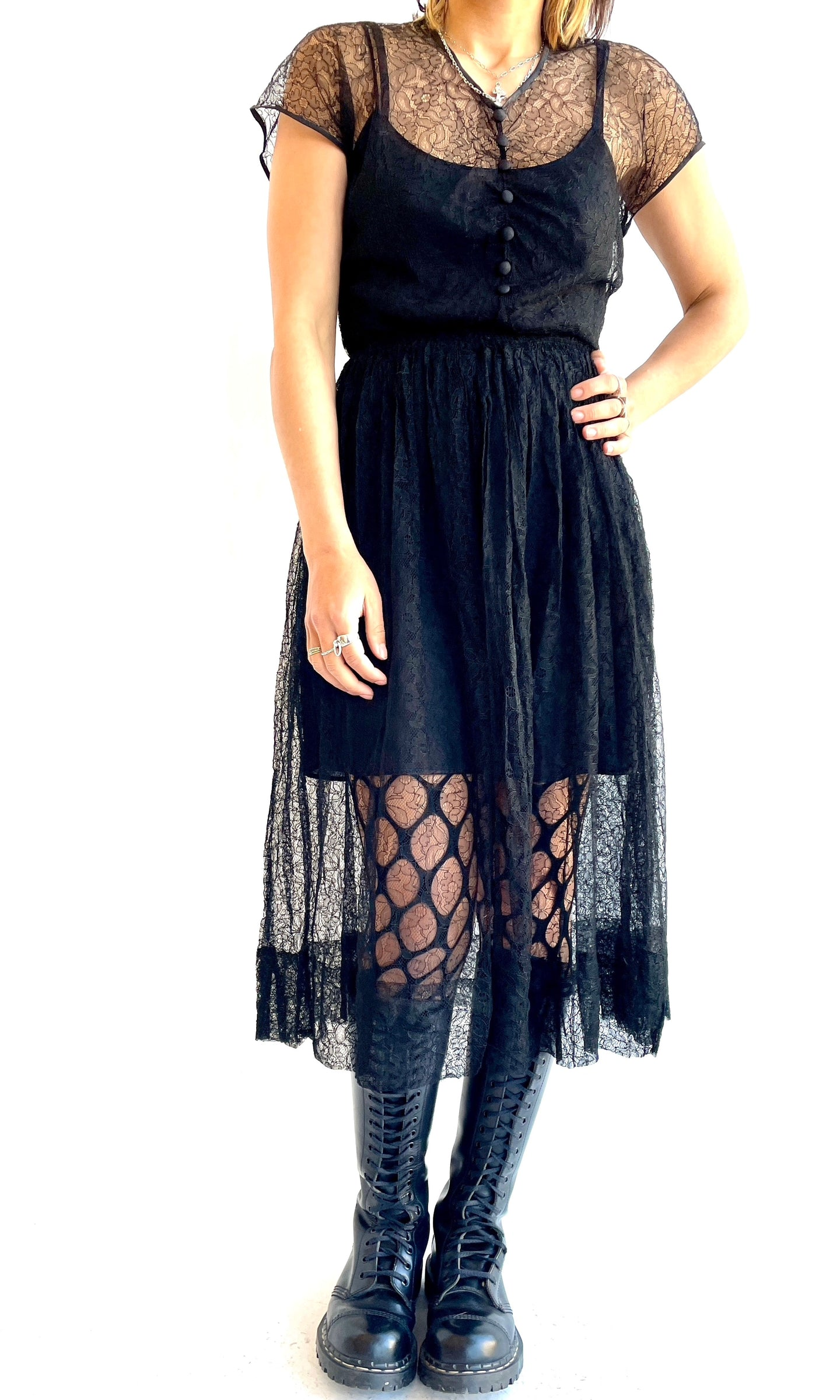 50s Sheer Lace Dress