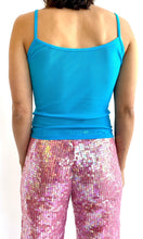 Load image into Gallery viewer, Mesh Sequin Rose Tank