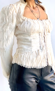 Cream Chiffon Corset Dream Top