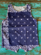 Load image into Gallery viewer, Navy/Grey Bandana Onesie