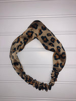 Silk Cheetah Knot Headbands