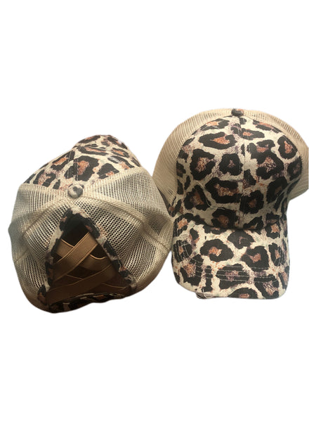 Cheetah Crisscross Hat