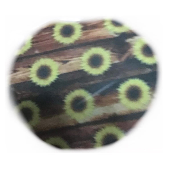 Distressed Wood & Sunflower Car coasters