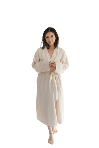 Natural Twill Double Layer Robe