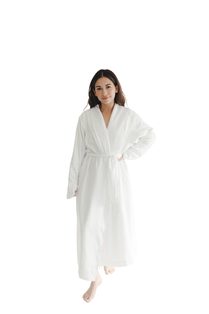 White Twill Double Layer Robe