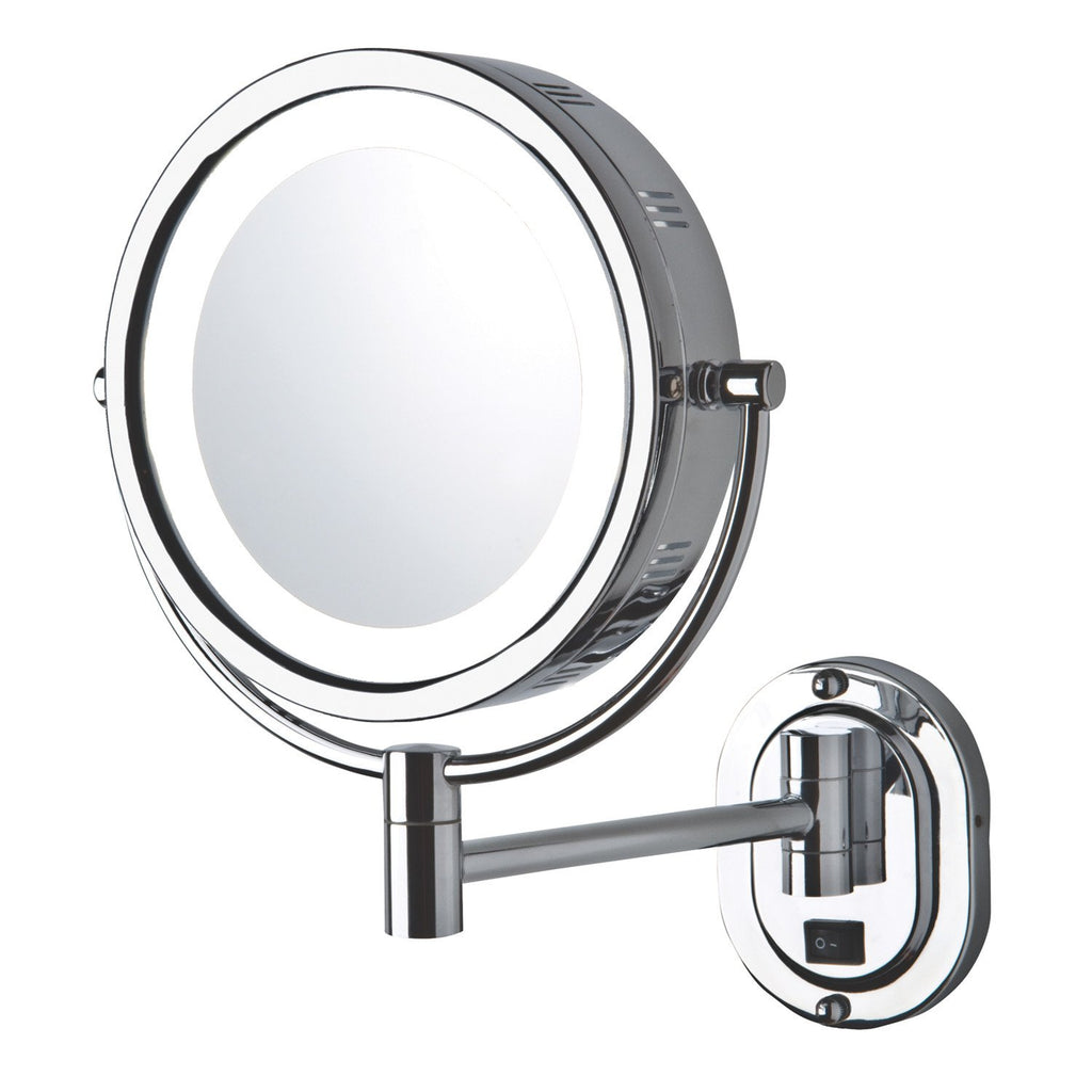 5X Halo LED Lighted Wall Mounted Mirror