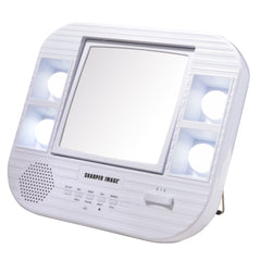 Sharper ImageLED Lighted Mirror with Bluetooth