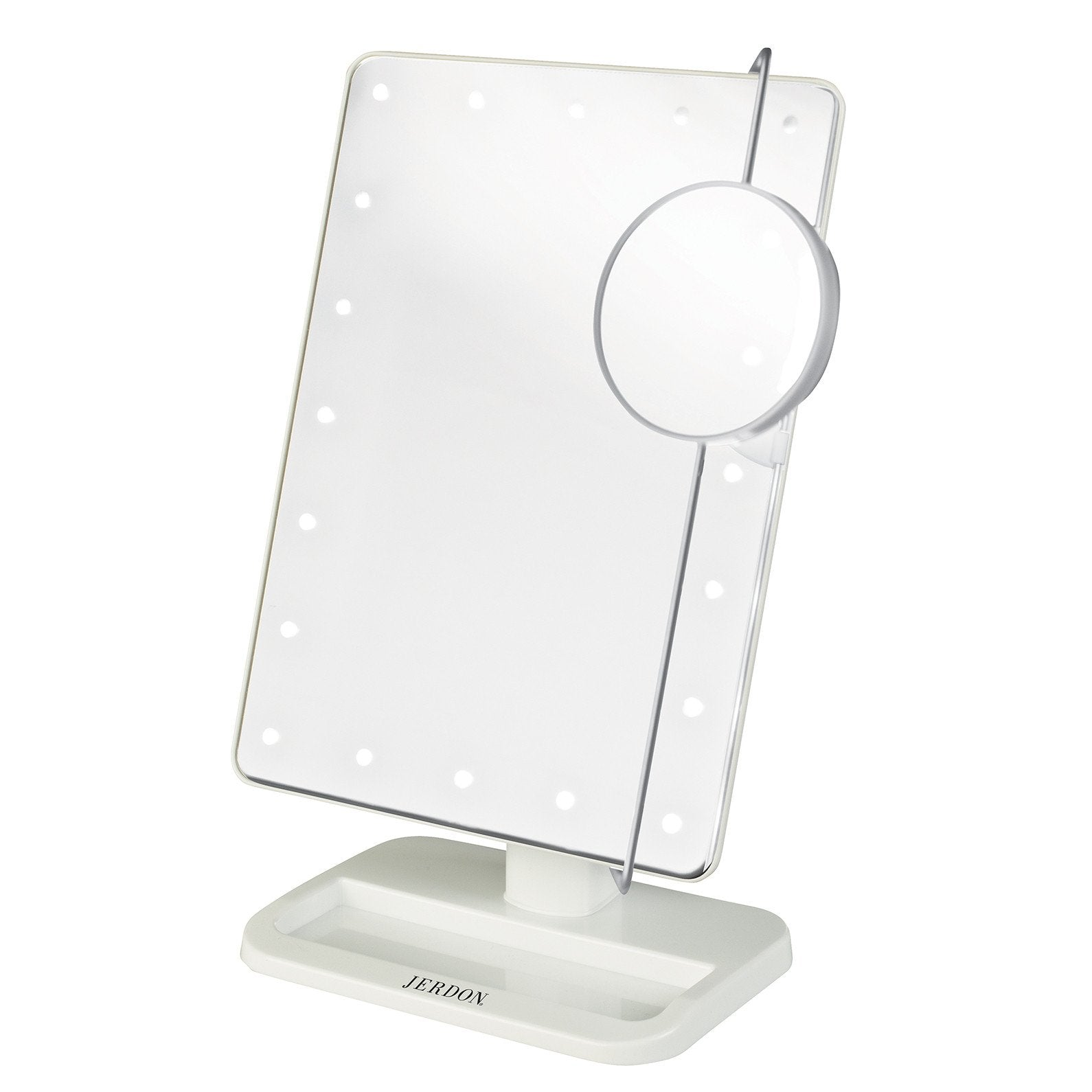 Led Lighted Battery Operated Makeup Mirror Jerdon Style