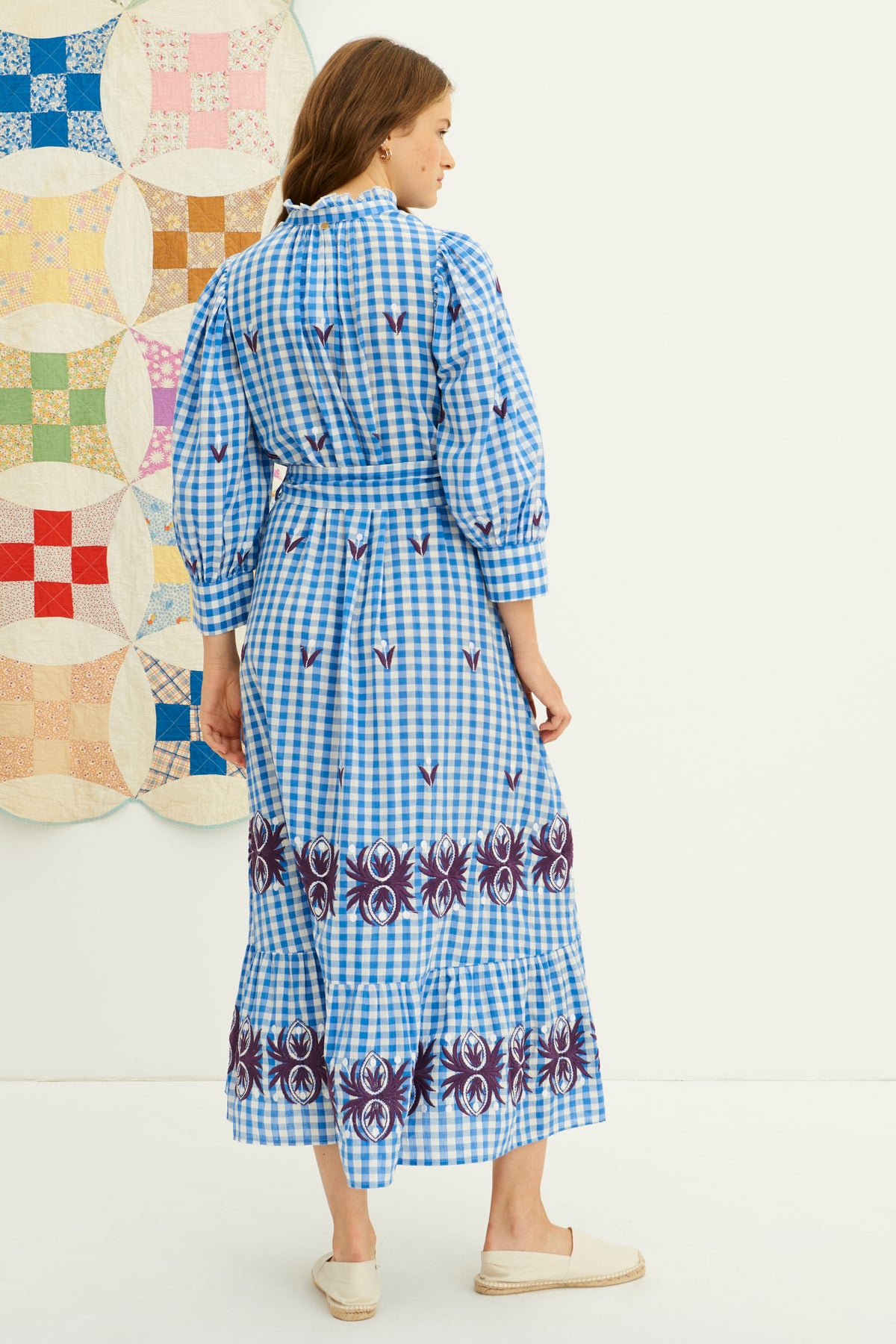 Antik Batik Gingham Patty Maxi Dress