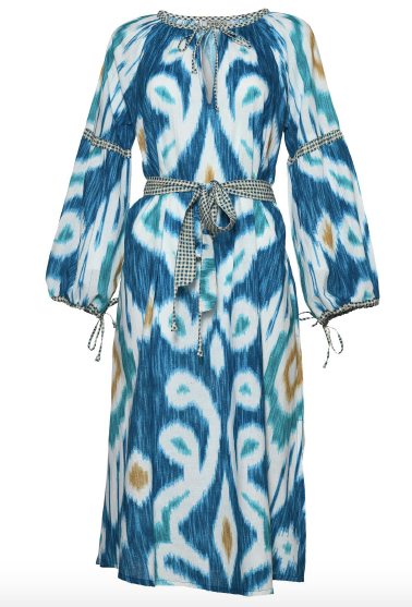 D'Ascoli Blue Uzbek Dress