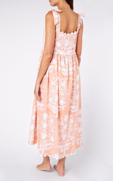 Juliet Dunn Jaipur Pink Tie Shoulder Dress in Palladio Print