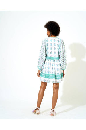 Oliphant Provence Floret Ballon Sleeve Dress