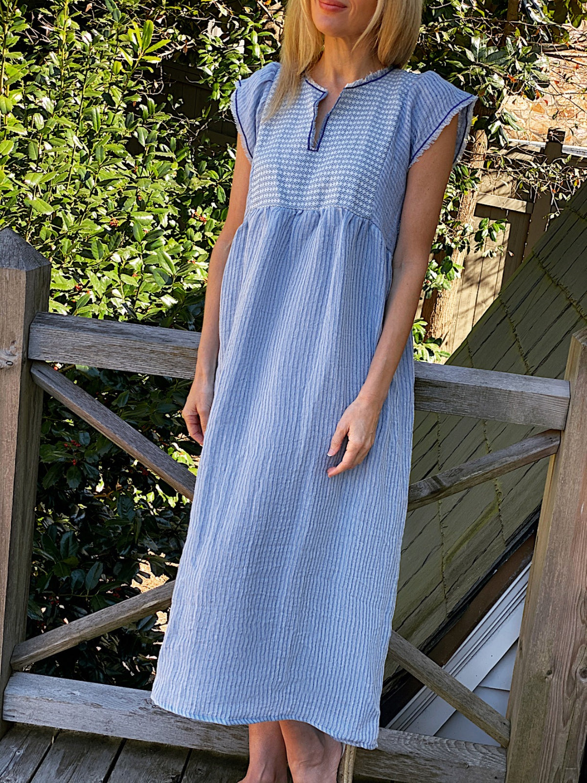 Nina Leuca Jilly Dress Blue on Blue