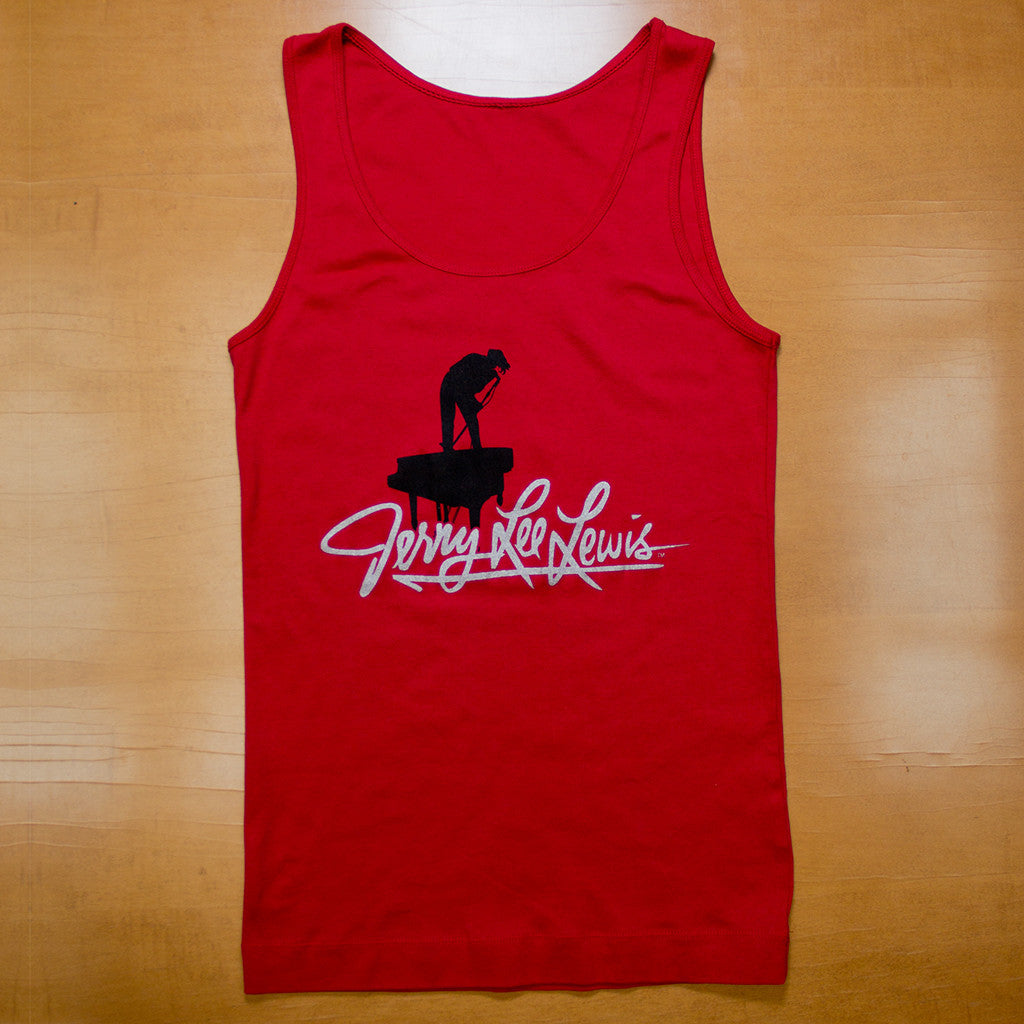 Ladies Red Silhouette Tank Top