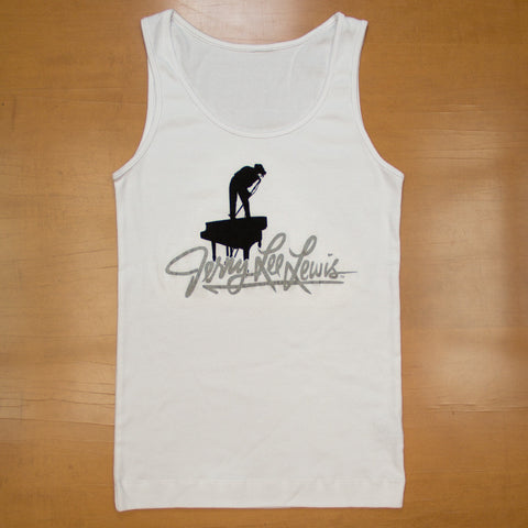 Ladies White Silhouette Tank Top