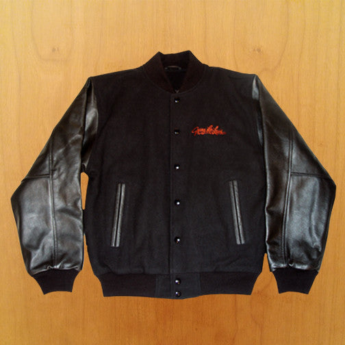 Leather Sleeve Varsity Jacket