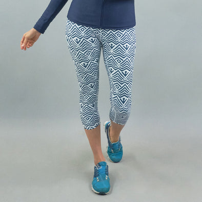 Lotus Legging - Ripple Navy