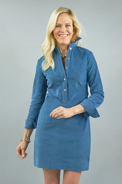 Ivy Dress - Slate Blue Cord
