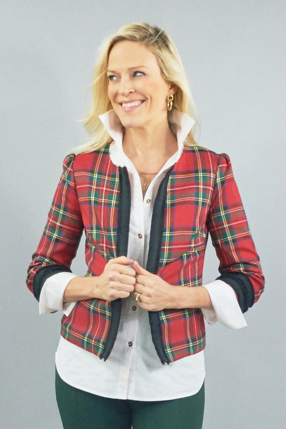 Shortwood Bolero - Red Plaid