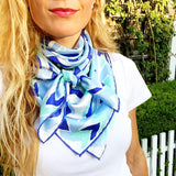 Colorful Silk Neck Scarf