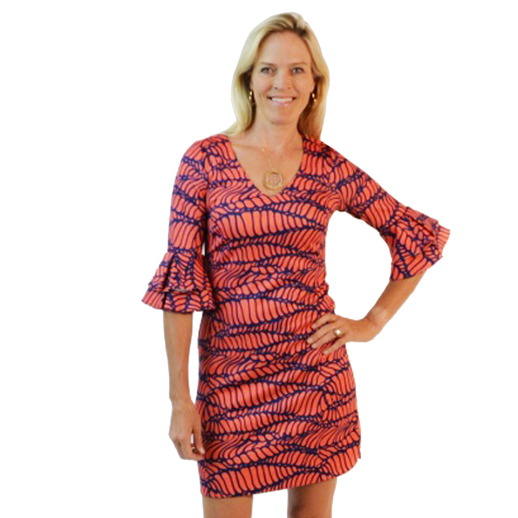 Carolina Dress - Red Squiggle