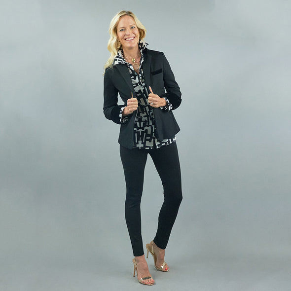 Betty Blazer - Black w/ Velvet