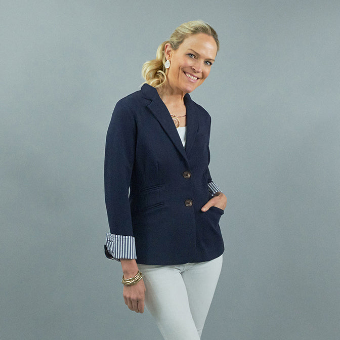 Betty Blazer - Navy w/ Stripe