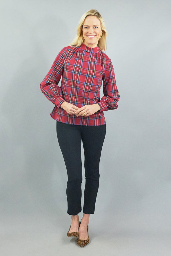Emery Blouse - Royal Stewart