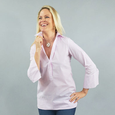 Ivy Tunic - Baby Pink Stripe