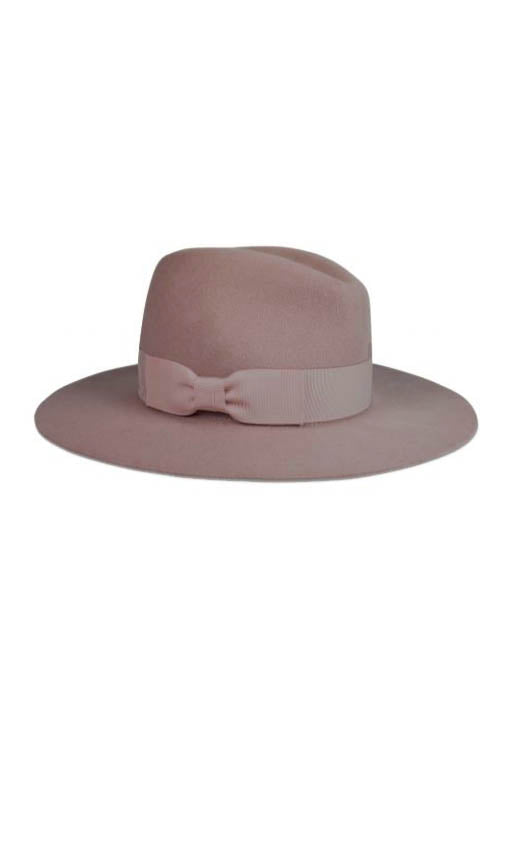 Lauren Felt Hat with Classic Grosgrain Ribbon Trim