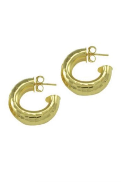 Betty Carre Small Round Hammered Hoop Earring