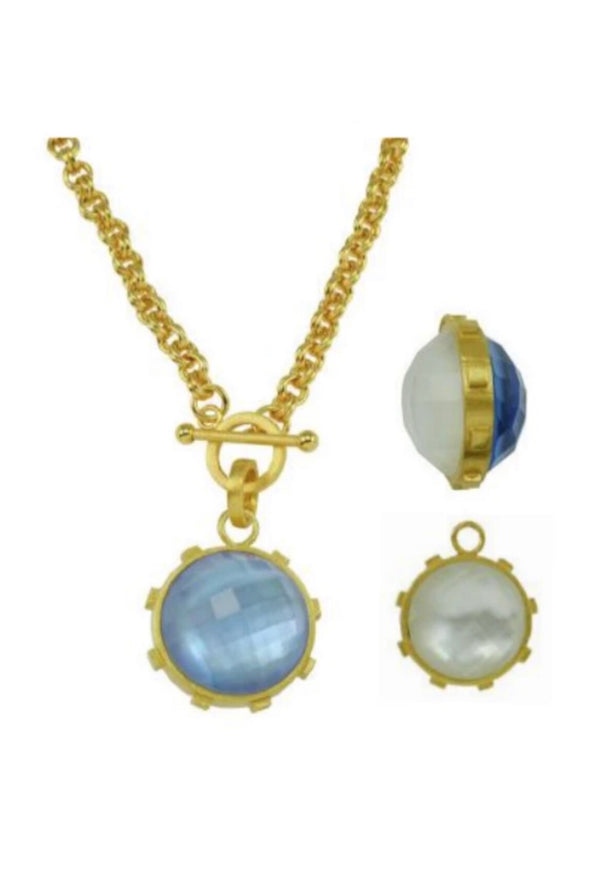 Betty Carre Toggle Chain with Round Stone Necklace