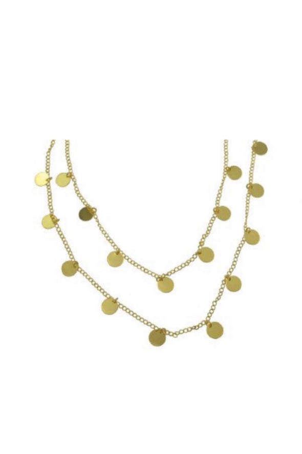 Betty Carre Gold Chain and Circles Necklace
