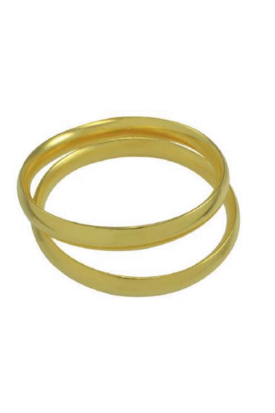 Betty Carre Set of 2 Gold Bangles