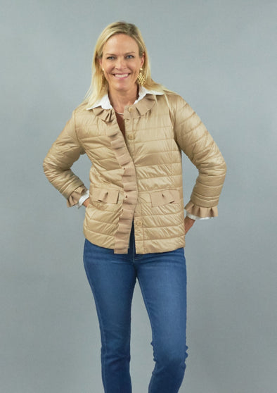 Patty Kim Gros Grain Trim Puffer