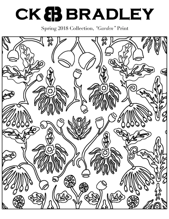 Garden Pring Coloring Page