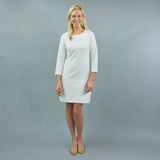 Hudson Dress - White Chevron
