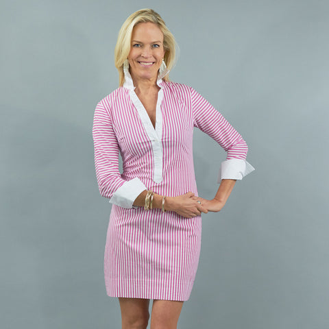Ivy Dress - Pink Stripe