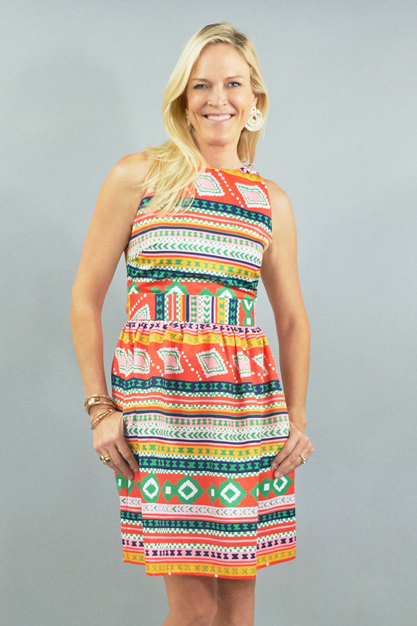 Darden Dress - Egypt Multi